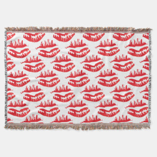Hot kiss Red Throw Blanket