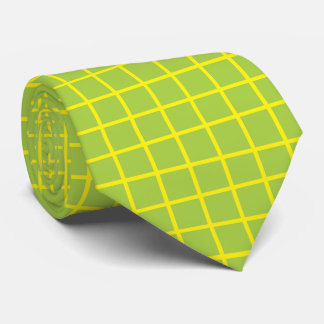 Hot Lime Tiles with Yellow Tie