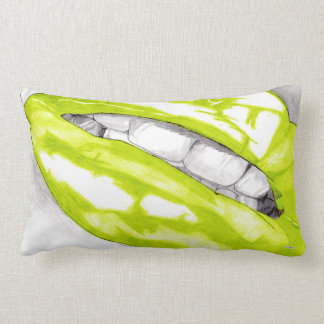 Hot Lips (Lime) Lumbar Pillow