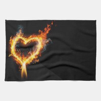 Hot Love Black Kitchen Towel