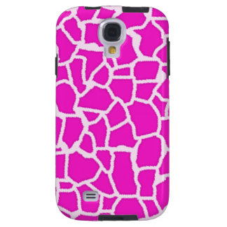 Hot Magenta Giraffe Animal Print Galaxy S4 Case