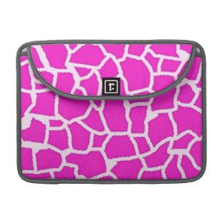 Hot Magenta Giraffe Animal Print MacBook Pro Sleeves