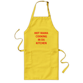 HOT MAMA COOKING IN DA KITCHEN LONG APRON