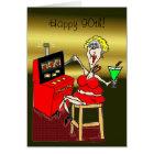 HOT MAMA SLOT MACHINE LUCKY 7'S 90th BIRTHDAY CARD