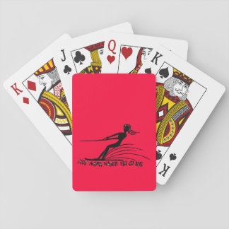 Hot Mama Water Ski Club Playing Cards