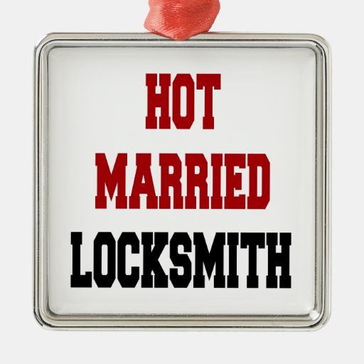 Hot Married Locksmith Christmas Ornaments