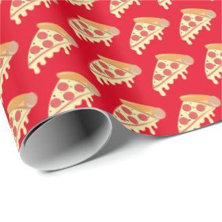 Hot melting cheese pepperoni pizza wrapping paper
