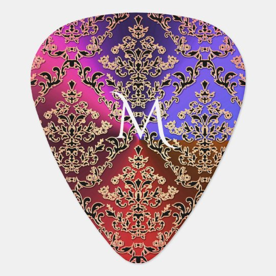 Hot Metallic Lace Guitar Pick