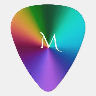 Hot Metallic Rainbow Guitar Pick