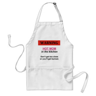 HOT MOM in the Kitchen Standard Apron