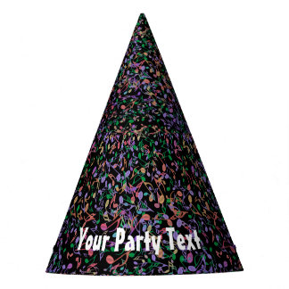 Hot Music Notes Customizable Party Hats