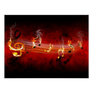 Hot Music Notes Poster