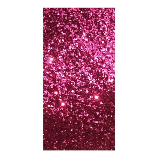 HOT NEON PINK SPARKLE GLITTER BACKGROUND PARTY FUN CUSTOM PHOTO CARD