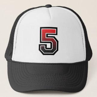 Hot Number 5 Trucker Hat