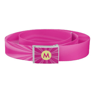 Hot or Bright Pink Radiating Streaks Initial Belt