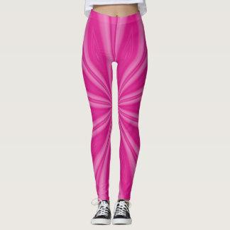 Hot or Bright Pink Streaks Leggings