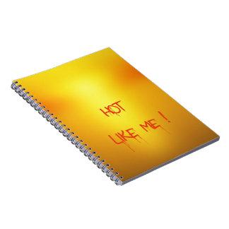 Hot Orange. Notebook