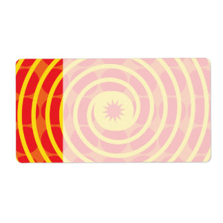 Hot Orange Polka Dots Yellow Spiral Pattern Shipping Label