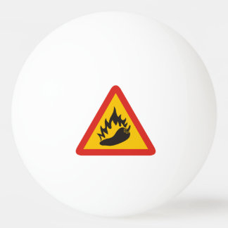 Hot pepper danger sign ping pong ball