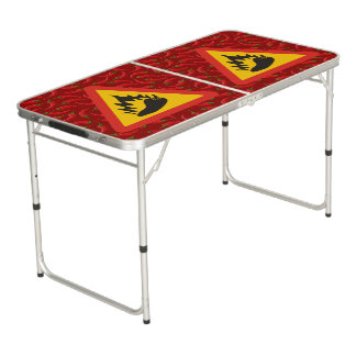 Hot pepper danger sign pong table