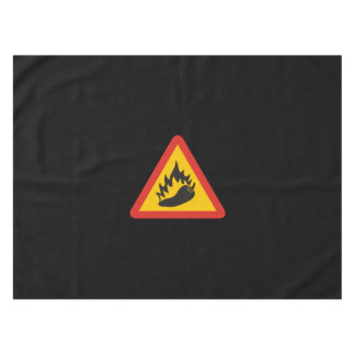 Hot pepper danger sign tablecloth