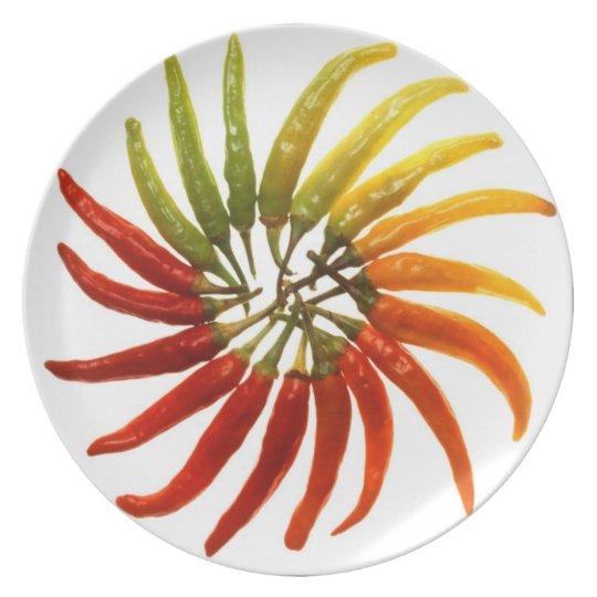 Hot Pepper Rainbow Plate