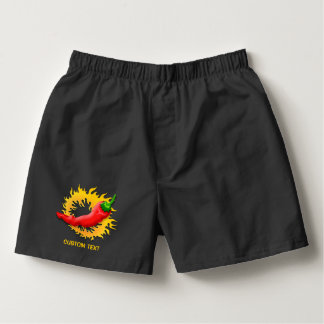 Hot Pepper with Flame Boxers