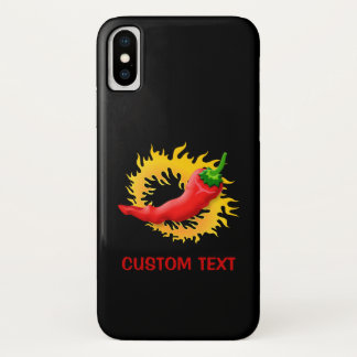 Hot Pepper with Flame iPhone X Case