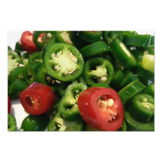 Hot Peppers Fresh Jalapenos Photo Art