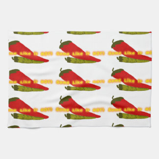 Hot Peppers On White Kitchen Towel