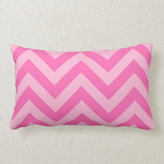 Hot Pink 2, Cotton Candy LG Chevron ZigZag Pattern Lumbar Pillow