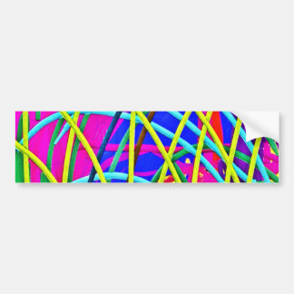 Hot Pink Abstract Girly Doodle Design Novelty Gift Bumper Sticker