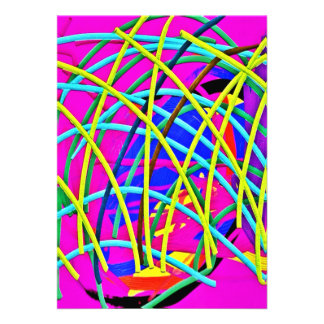 Hot Pink Abstract Girly Doodle Design Novelty Gift Announcements