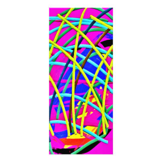 Hot Pink Abstract Girly Doodle Design Novelty Gift Invitation