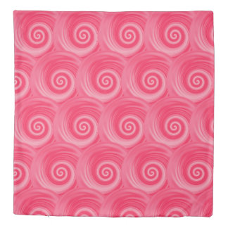 Hot Pink Abstract Swirl Duvet Cover