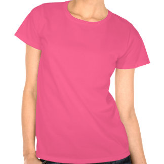 Hot Pink Alien on Black T-Shirt