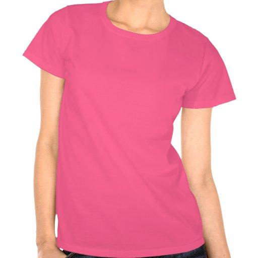 Hot Pink Alien on Black T-Shirt