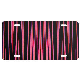 HOT PINK (an abstract art design) ~ License Plate