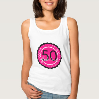 Hot Pink and Black 50 & Fabulous Birthday Shirt