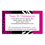 Hot Pink and Black Animal Print Zebra and Leopard