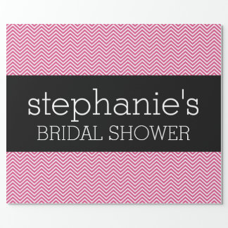 Hot Pink and Black Bridal Shower Chevrons