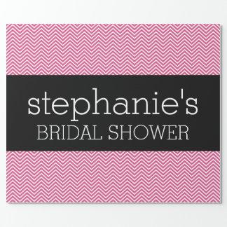 Hot Pink and Black Bridal Shower Chevrons
