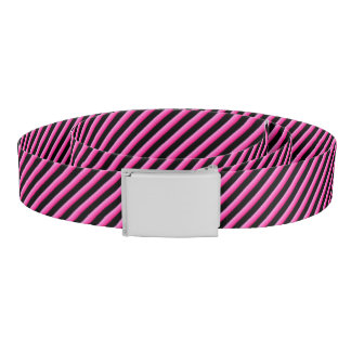 Hot Pink and Black Diagonal Striped