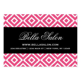 Hot Pink and Black Ikat Diamonds Business Card