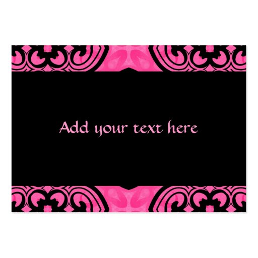 Hot pink and black victorian kaleidoscope decor business cards