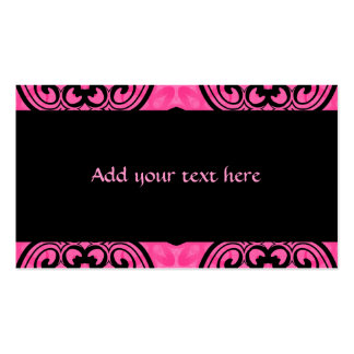 Hot pink and black victorian kaleidoscope decor pack of standard business cards