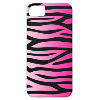 Hot Pink and Black Zebra Pattern iPhone 5 Covers