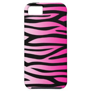 Hot Pink and Black Zebra Pattern iPhone 5 Case