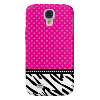 Hot Pink and Black Zebra Polka Dot