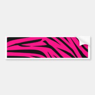 Hot Pink and Black Zebra Stripes Bumper Stickers
